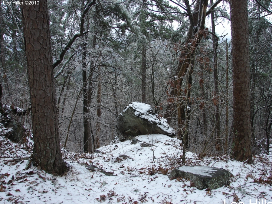 Hot Springs National Park Ice Snow Gulpha Gorge Trail