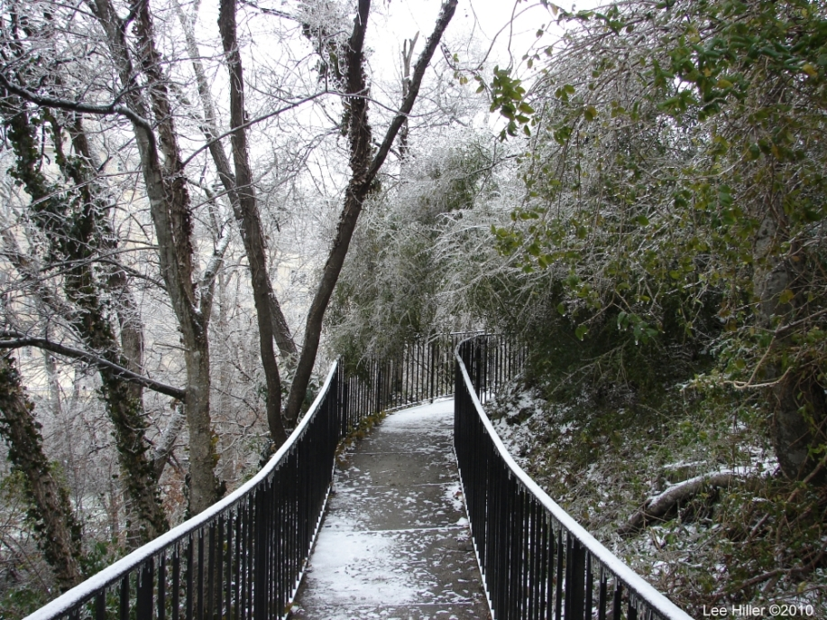 Hot Springs National Park Ice Snow Entrance