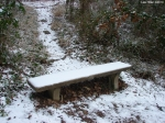Hot Springs National Park Ice Snow HSMT Bench