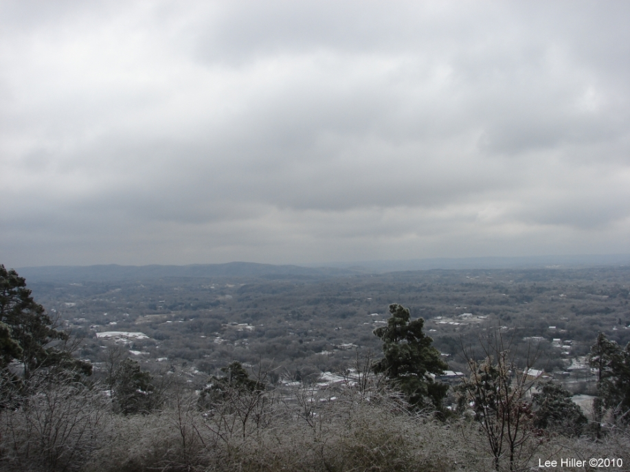 Hot Springs National Park Ice Snow HSMT Pagoda View