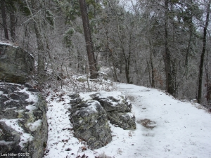 Hot Springs National Park Ice Snow HS Mountain Trail