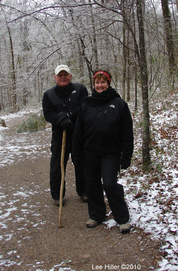 Hot Springs National Park Ice Snow Peak Trail Linda & Haltom