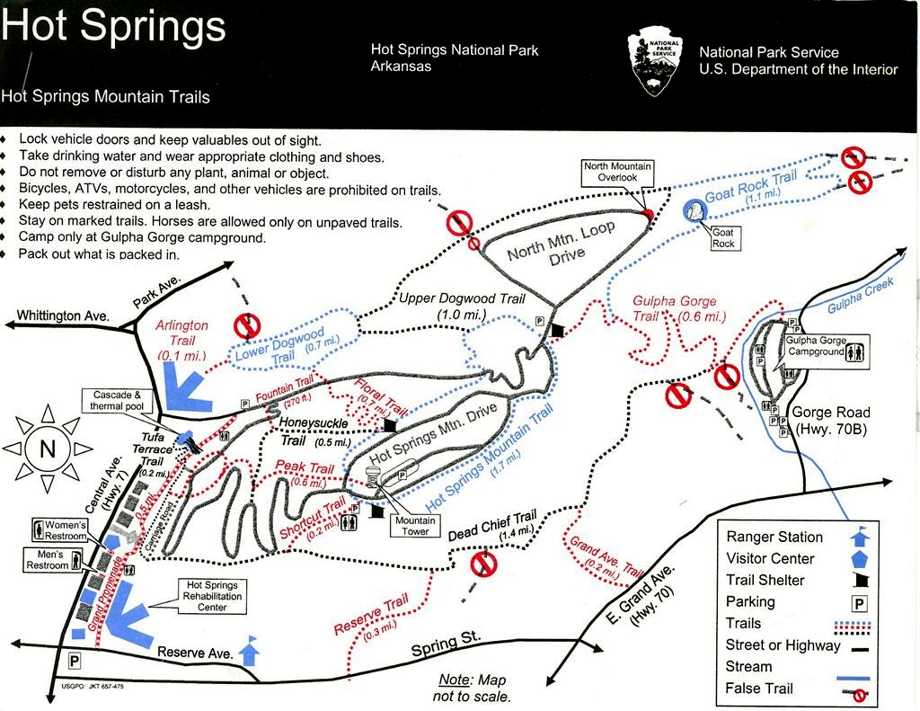 Hot Springs National Park Trail Maps Hike Our Planet HikeOurPlanet