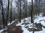 Hot Springs National Park Trails Short Cut Trail snow