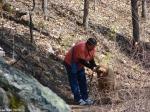 Hot Springs National Park Goat Rock Trail Leashing Dog