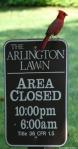 Arlington Lawn Sign Cardinal