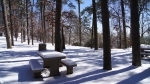 Hot Springs Mountain Picnic Area Snow