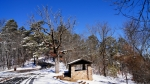 Hot Springs Mountain Trail Rest Hut Snow