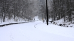 Hot Springs Mountain Road Snow