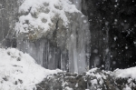 Hot Springs National Park Hot Water Cascade Ice Snow