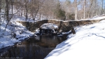 Hot Springs National Park Gulpha Creek Ice Snow