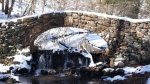 Hot Springs National Park Gulpha Creek Stone Bridge Snow