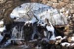 Hot Springs National Park Gulpha Creek Stone Bridge Snow