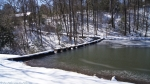 Hot Springs National Park Ricks Pond Dam Ice Snow
