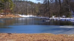 Hot Springs National Park Ricks Pond Ice Snow