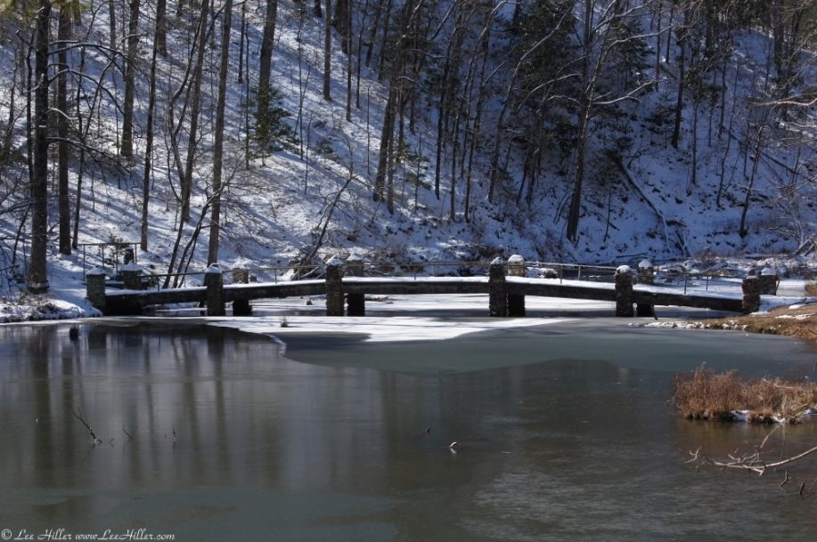 Hot Springs National Park Ricks Pond Stone Bridge Snow