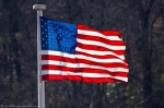 Hot Springs National Park Promenade USA Flag