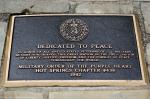 Hot Springs City Desoto Park Purple Heart Memorial