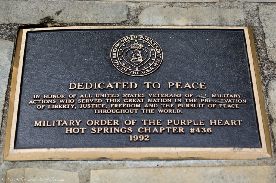 Hot Springs City Desoto Park Purple Heart Memorial