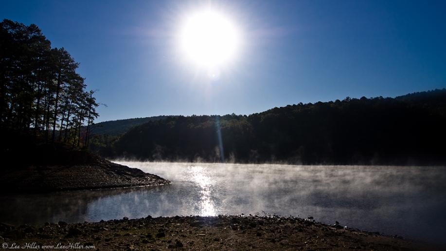 Lake Ouachita State Park Mist on the Lake
