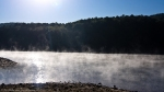 Lake Ouachita State Park Mist on the Lake