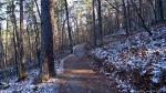 HSNP Hot Springs Mountain Trail Autumn Snow