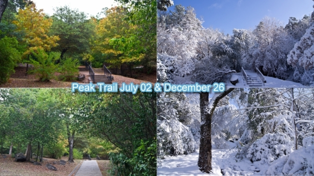 Peak Trail Summer and Winter