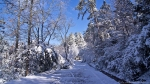 HSNP Hot Springs Mountain Road Snow