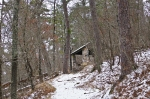 HSNP Honeysuckle Trail Hiker Hut (Wedding Chapel) Snow