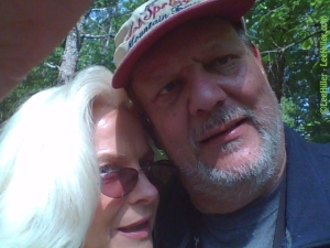 My beloved husband Rick and me on the trail