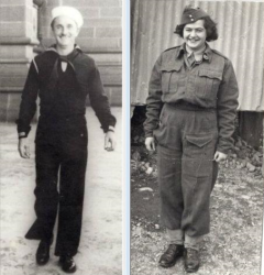 WWII Veterans Dad and Mom in Uniform