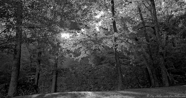 Sunrise at the Wall Black and White