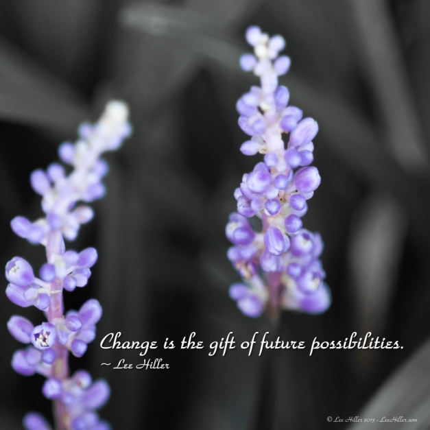 Change is the gift of future possibilities. ~ Lee Hiller