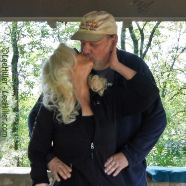 My Beloved Husband Rick and I steal a kiss