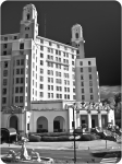 Vintage Look Arlington Hotel Black and White Photo by Lee Hiller