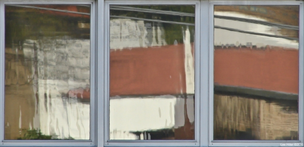 #Photo101 Window Reflection Three Pane Impressionist Painting