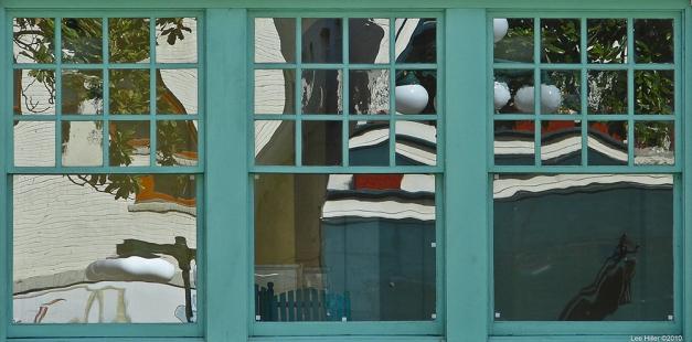 Photo101 Window Reflection in the Superior Bathhouse