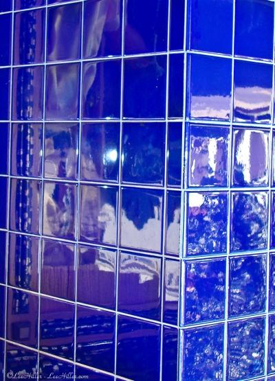 Cobalt Blue Tile Corner Reflections