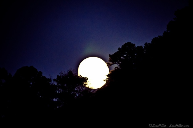 HSNP Supermoon over Hot Springs National Park