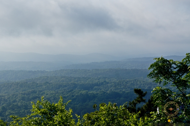 View of National Forest from Hot Springs Mountain